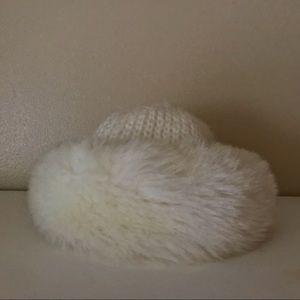 Vintage Aris Faux Fur Knit Hat